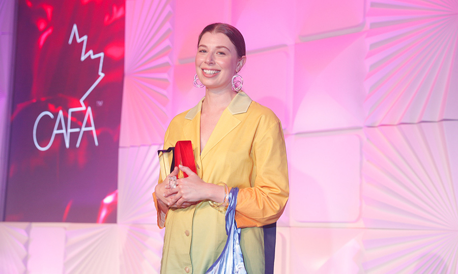 <strong>Corey Moranis</strong>, who designs handcrafted Lucite jewellery and accessories, won the Emerging Talent, Accessories award.