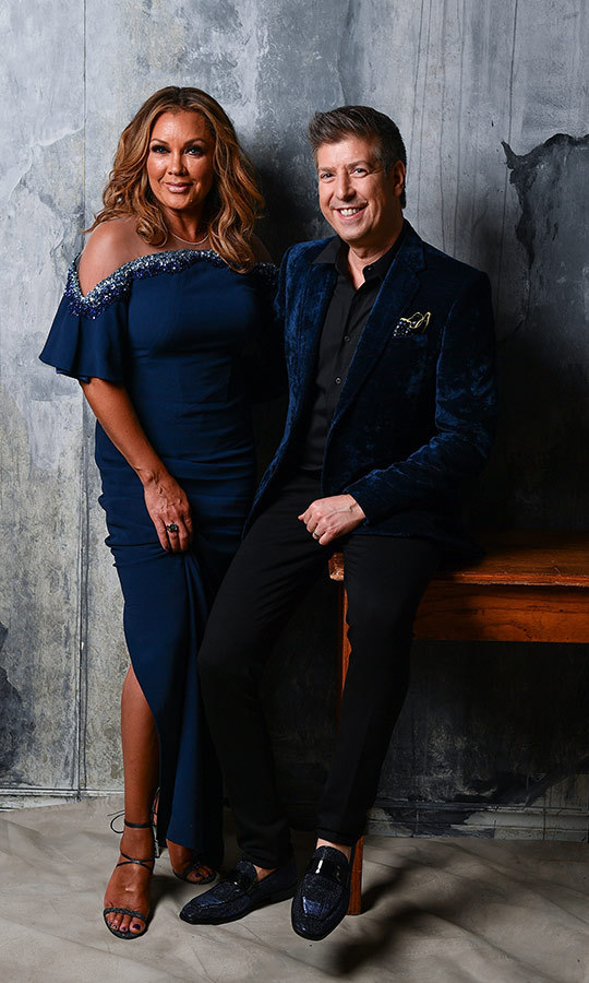 "Actress and singer <strong><a href=""/tags/0/vanessa-williams"">Vanessa Williams</strong></a> and  shoe designer <strong>Ron White</strong> were all smiles in the portrait room!