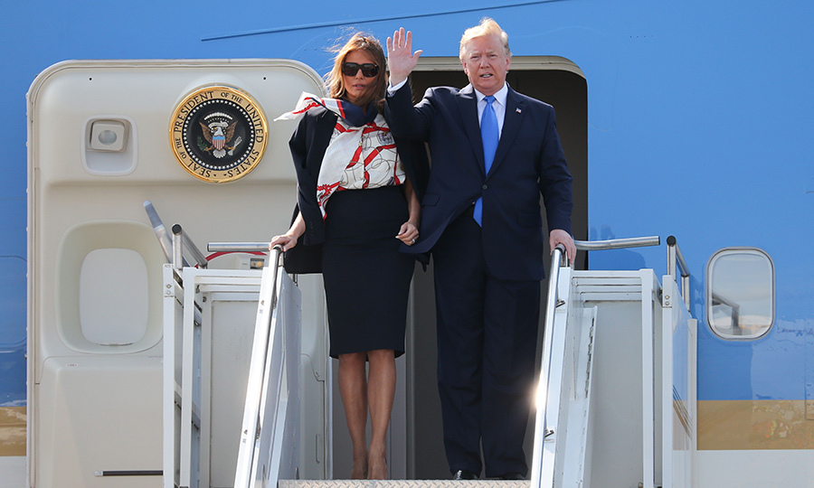 "On June 3, US President <strong><a href=""/tags/0/donald-trump"">Donald Trump</a></strong> and First Lady <strong><A href=""/tags/0/melania-trump"">Melania Trump</a></strong> arrived at London's Stansted airport for a three-day state visit to the UK. 