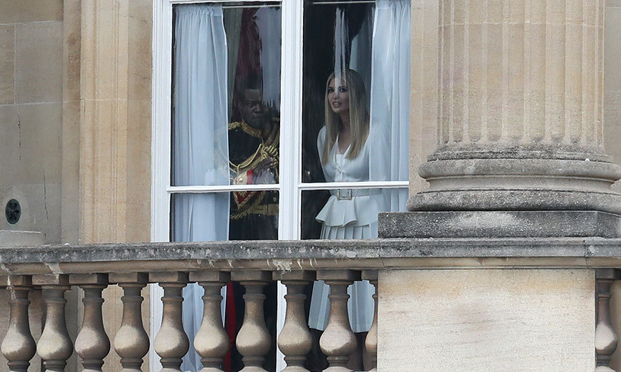 "<strong><a href=""/tags/0/ivanka-trump"">Ivanka Trump</a></strong> got a good peek out one of the palace's windows!