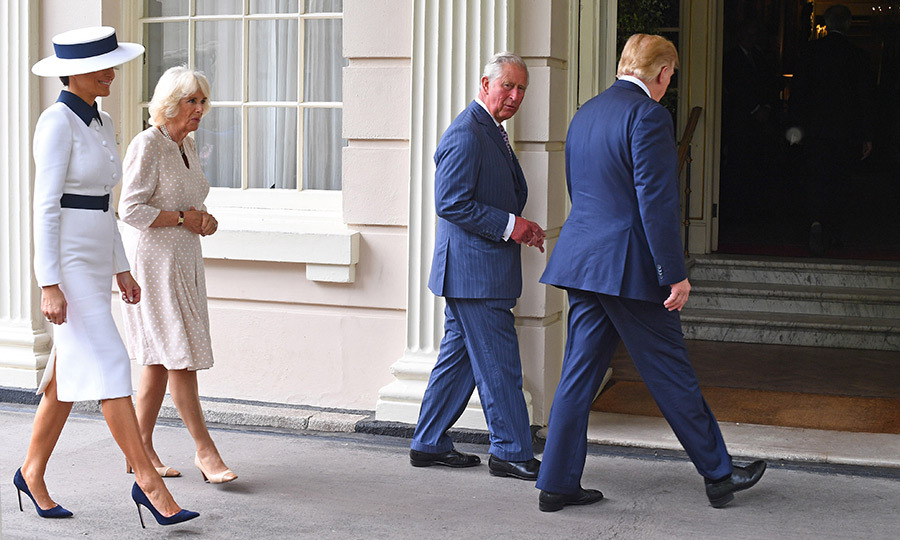 From there, the US first couple headed to Clarence House to have tea with Camilla and Charles.