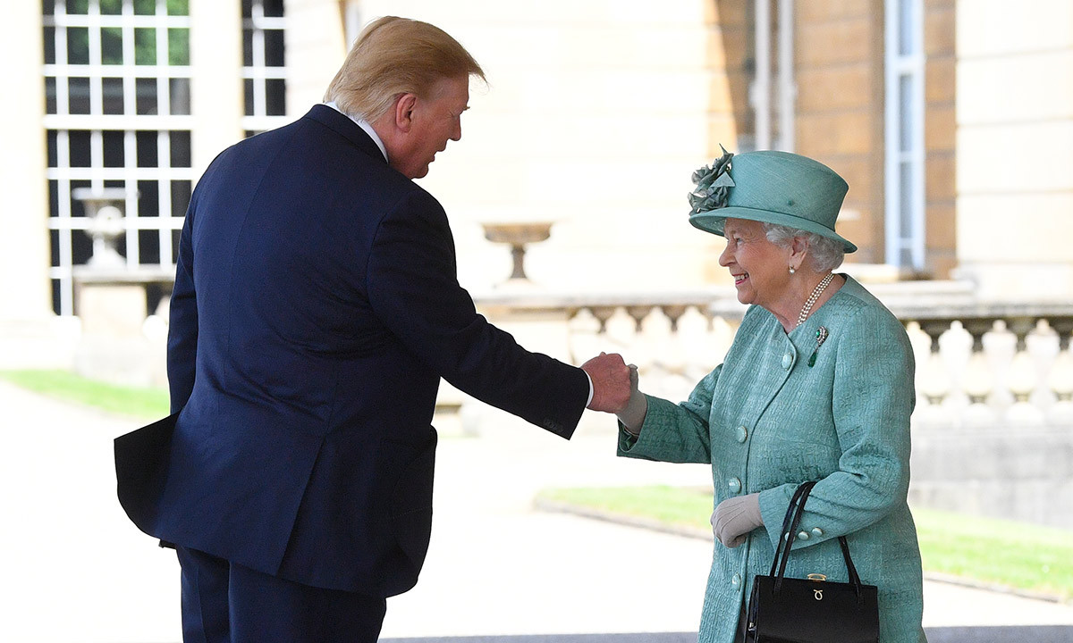 "<strong><a href=""/tags/0/queen-elizabeth-ii"">The Queen</strong></a> greeted US President <strong><a href=""/tags/0/donald-trump"">Donald Trump</a></strong> at Buckingham Palace on June 3. It was their second meeting, following last year's tea at Windsor Castle with <a href=""/tags/0/melania-trump""><strong>Melania Trump</a></strong>. 