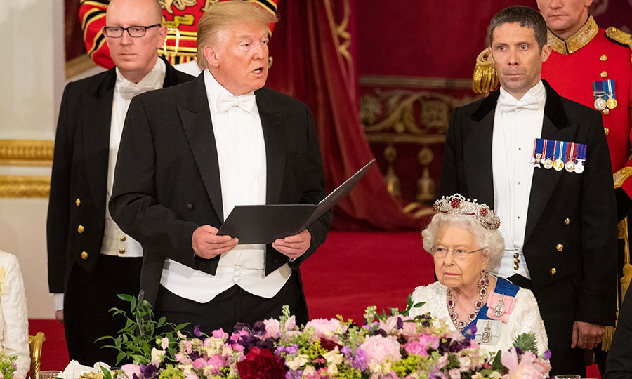 "Both Donald and the Queen gave speeches which honoured the ""special friendship"" between the US and UK.