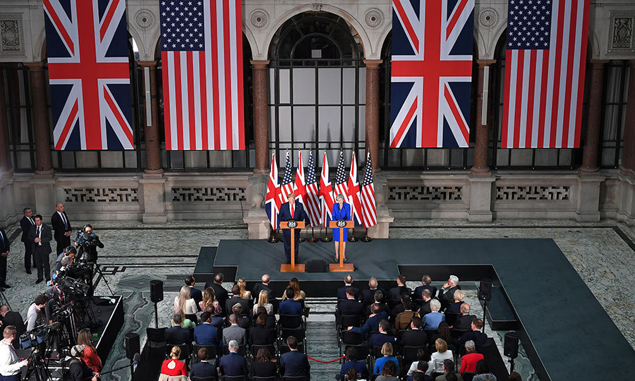 The two leaders gave a press conference at the Foreign and Commonwealth office in London.
