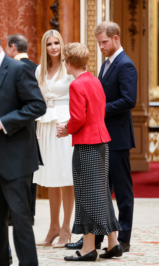 "<a href=""/tags/0/donald-trump""><strong>Donald Trump</strong></a>'s daughter, <strong>Ivanka Trump</strong>, chatted with <a href=""/tags/0/prince-harry""><strong>Prince Harry</strong></a> while at Buckingham Palace.