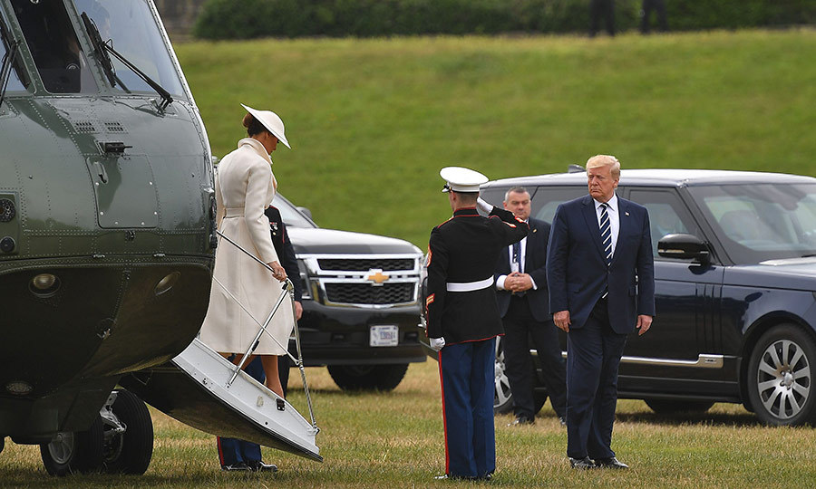 "On June 5, <strong><a href=""/tags/0/donald-trump"">Donald Trump</a></strong> and <strong><a href=""/tags/0/melania-trump"">Melania Trump</a></strong> headed to Portsmouth for a ceremony marking the 75th anniversary of the D-Day landings in Normandy. 