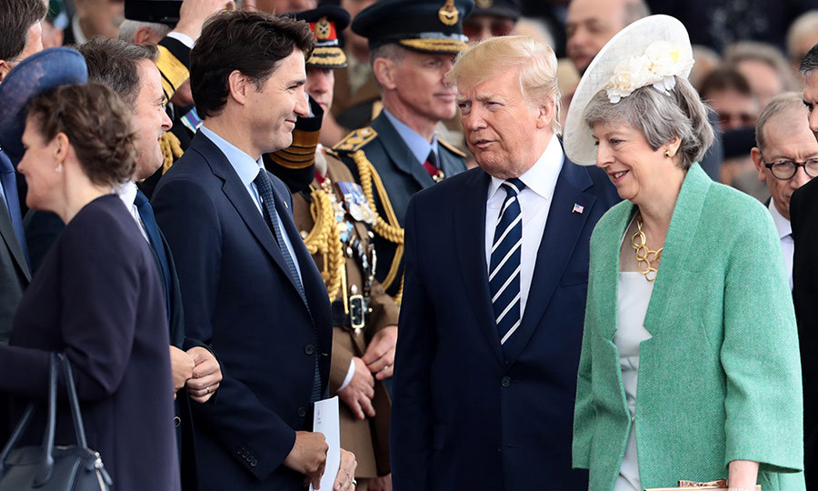"World leaders including Canadian Prime Minister <strong><a href=""/tags/0/justin-trudeau"">Justin Trudeau</a></strong> and UK Prime Minister <strong>Theresa May</strong> were there. Justin greeted the US president.