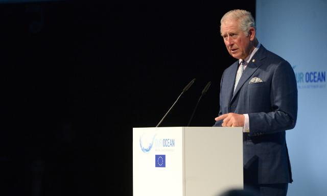 During the Our Ocean conference with the European Union in 2017, Charles called catastrophic hurricanes a direct consequence of climate change. 