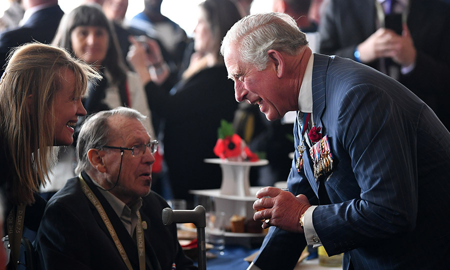 Charles took some time to meet some veterans after the reception and thank them for their service.