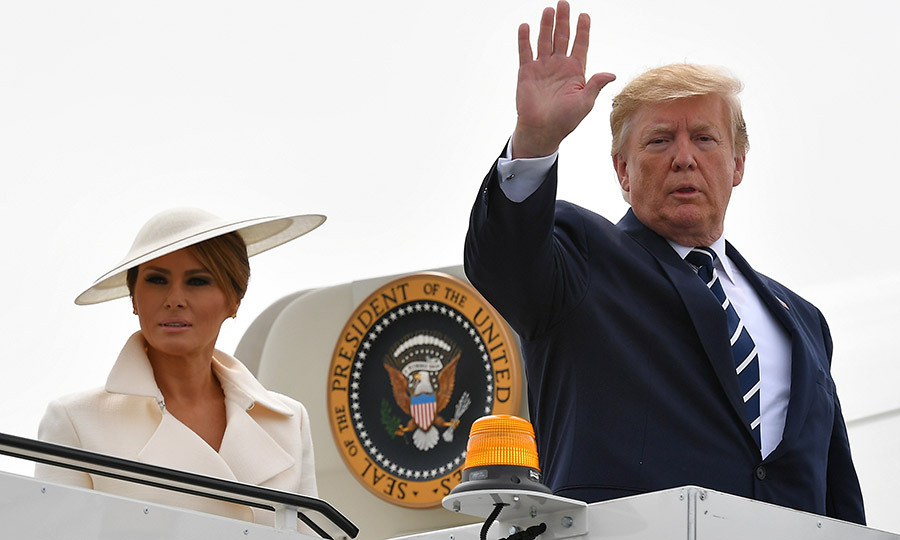 Following the reception, Melania and Donald headed back to Air Force One, ending their three-day visit to the UK.