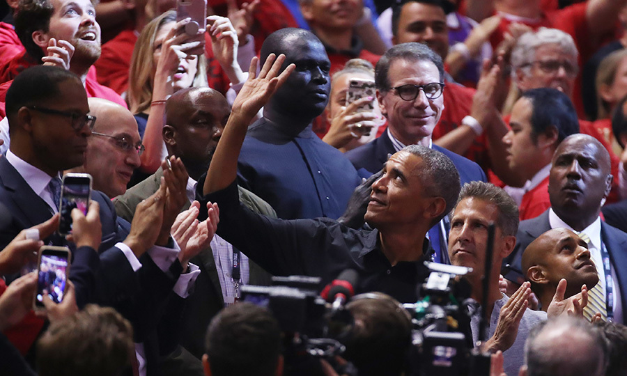 "Former US President <strong><a href=""/tags/0/barack-obama"">Barack Obama</a></strong> caused a huge stir in Toronto when he showed up at Game 2 in the series on June 2. Barack had been in Ottawa to give a speech on May 31, and he decided to stay north of the 49th parallel for a few extra days, just so he could see the Raps play. 