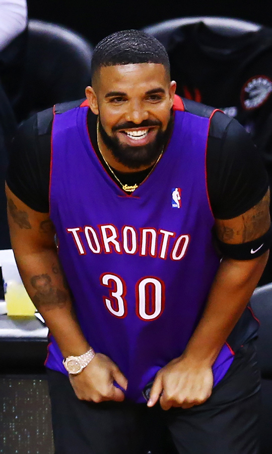 "Of course, let's not forget <Strong><a href=""/tags/0/drake"">Drake</a></strong>! The Grammy Award winner and three-time Juno Award winner is the Raptors's global ambassador, and can be spotted at most games cheering the team on. During Game 1 on May 30, he wore a Dell Curry jersey! If you're not familiar with Dell, he was a Raptors player from 1998 to 2002, and he's also Golden State superstar <strong>Steph Curry</strong>'s dad!