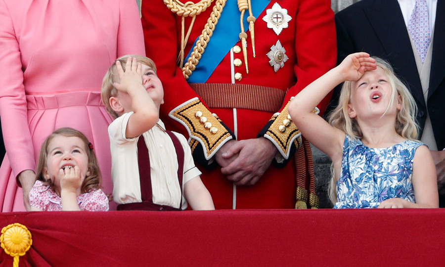 <h2>Princess Charlotte, Prince George and Savannah Phillips</h2>