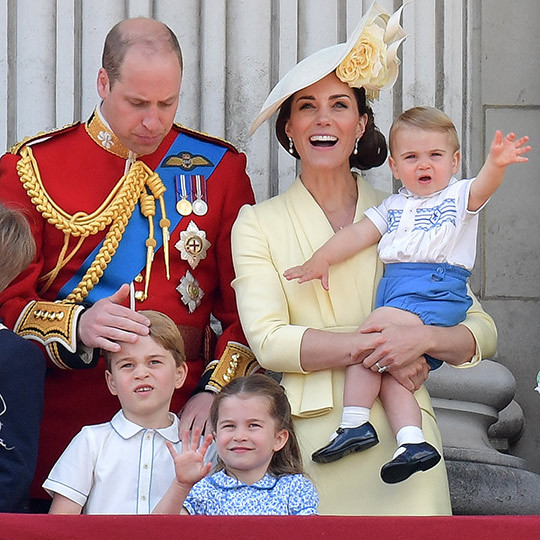 It looked like Louis liked the flypast, too! The adorable little boy continued to wave at the crowds and stare up at the sky as RAF planes passed by. George and Charlotte seemed as enthralled as ever by the events. 