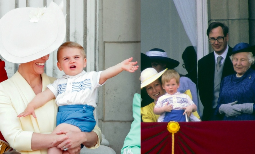 "Royal fans were delighted to see <a href=""https://ca.hellomagazine.com/tags/0/prince-louis""><strong>Prince Louis</strong></a> make an adorable balcony debut for the <a href=""https://ca.hellomagazine.com/royalty/02019060851802/2019-trooping-the-colour-photos""><strong>2019 Trooping the Colour</strong></a> – and those with eagle eyes noticed his familiar outfit! It happened to be that the third of the Cambridge clan borrowed from uncle <a href=""https://ca.hellomagazine.com/tags/0/prince-harry""><strong>Prince Harry</strong></a>'s childhood wardrobe. The new dad wore the blue shorts and blue-and-white button-up top for Trooping the Colour in 1986 when he was two years old.