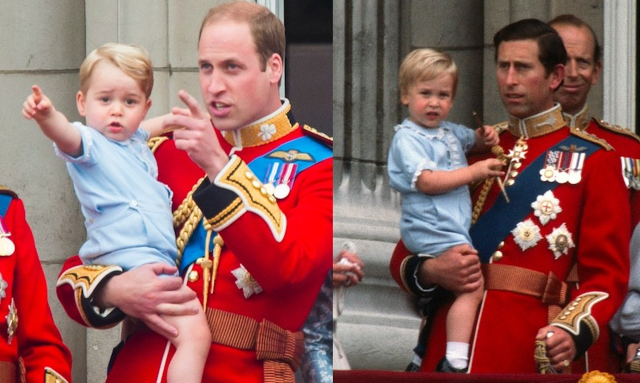 "When <a href=""https://ca.hellomagazine.com/tags/0/prince-george""><strong>Prince George</strong></a> made his first appearance at Trooping the Colour in 2015, he wore the exact same baby blue jumpsuit that his dad wore back in 1984.