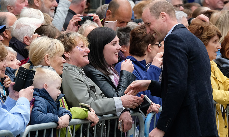 Prince William brought his incredible smile with him as he chatted with Keswick's residents.