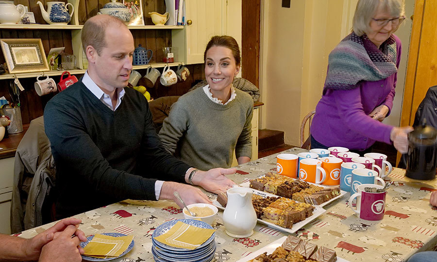William and Kate ended their day with tea and sweets at the farm.