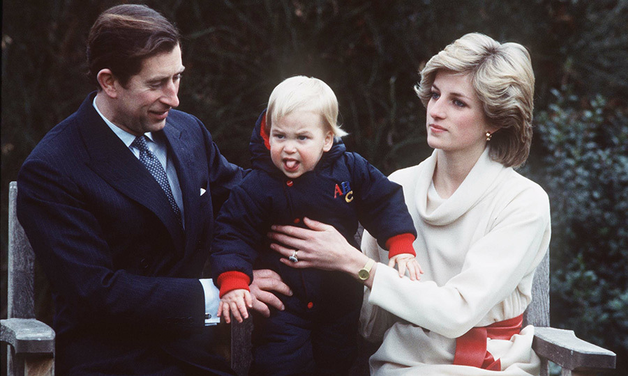 While Diana seemed unimpressed by her son sticking his tongue out during a temper tantrum in this photo taken in December 1983, Charles looked pretty amused! Being one is hard! 