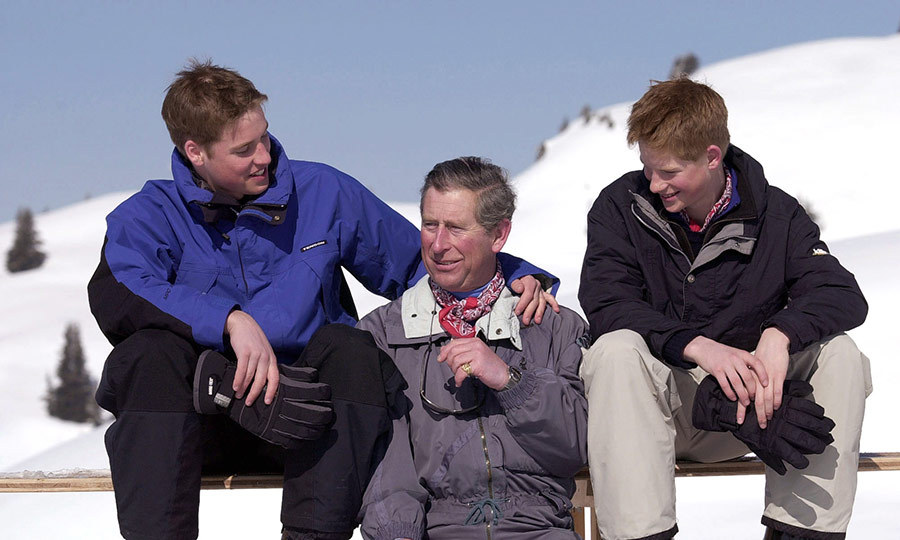 Charles and his sons love skiing, and it's always been very clear that Charles loves his sons, and they also love him.