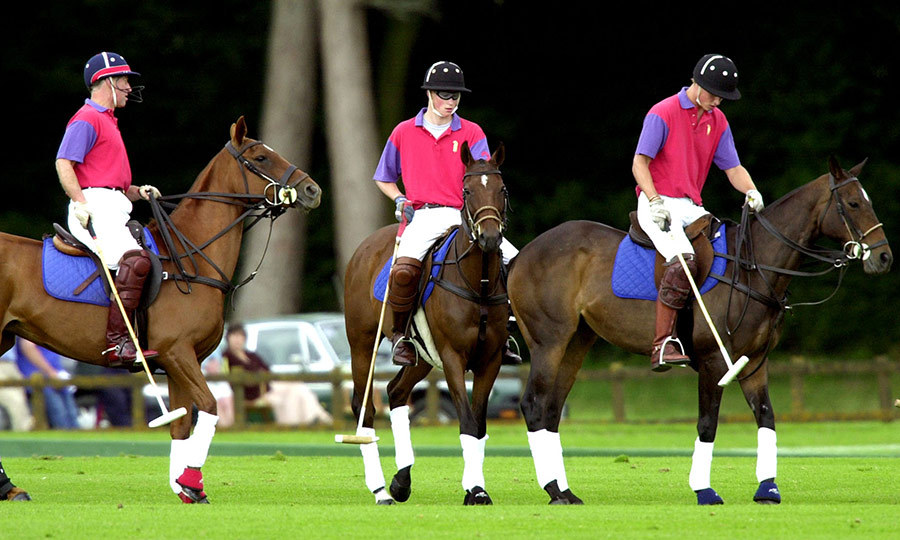 Charles is retired from polo play now, but he made sure to pass his love of the sport on to his sons. 