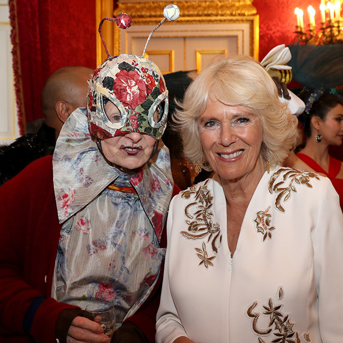 Camilla posed alongside celebrated fashion designer (and stylish bug!) Vivienne Westwood.