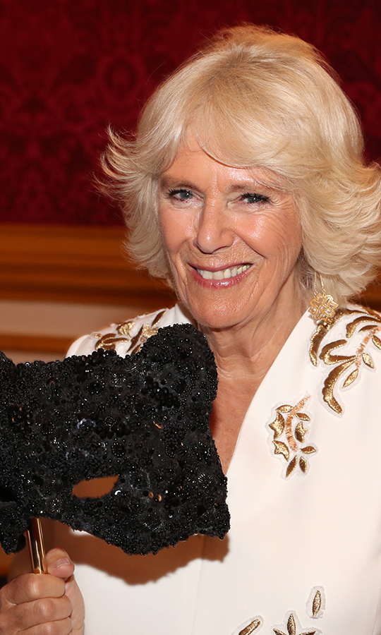 The Duchess of Cornwall looked stunning for the fun afternoon.