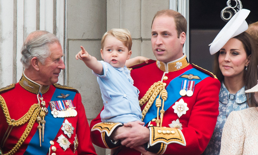 "What a cute moment between father and son during the 2015 <strong><a href=""/tags/0/trooping-the-colour"">Trooping the Colour</a></strong>! Grandpa Prince Charles seems quite touched to see his grandson enjoying his balcony debut! 