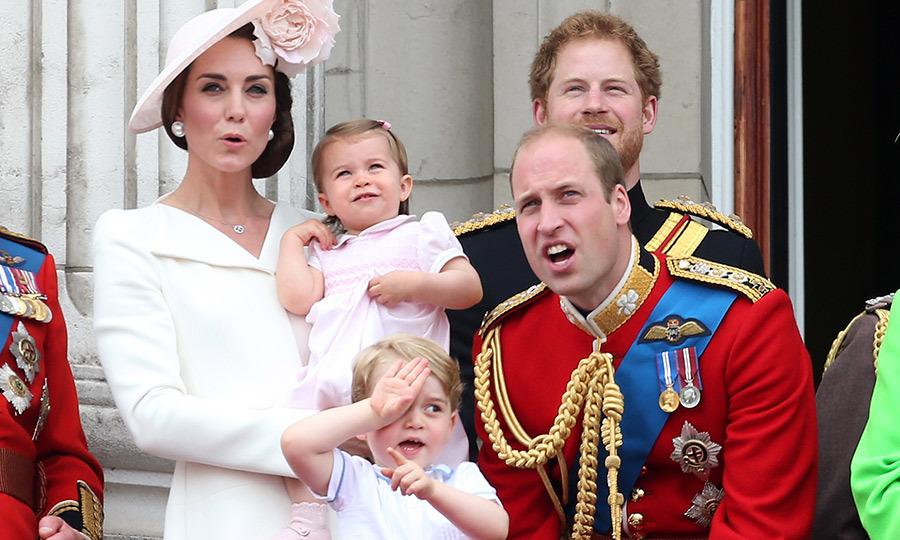 William was just as into the flypast as his kids were during Trooping the Colour in 2016! 