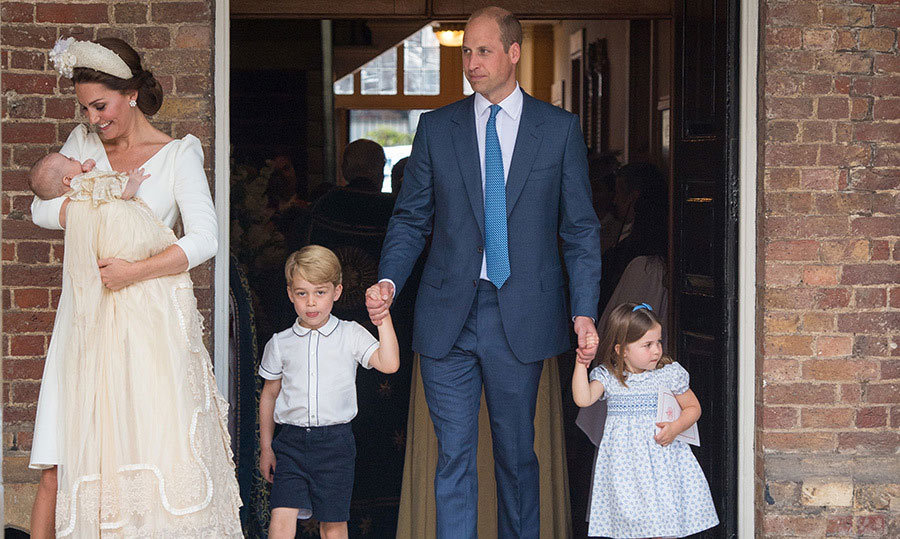 Is it really any wonder Prince William was nominated for a parenting award this year? He's such a standup dad, as we can clearly see here with his kids during Louis's christening last year.