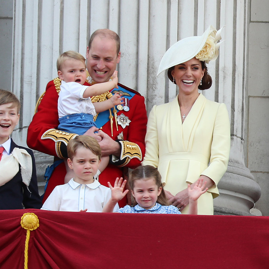 We love how proud William is of his children! He seemed totally thrilled Louis had already perfected his royal wave during Trooping the Colour earlier this month. 