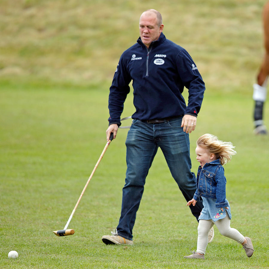 Mia seemed to be getting a kick out of playing polo with her dad in 2016! 