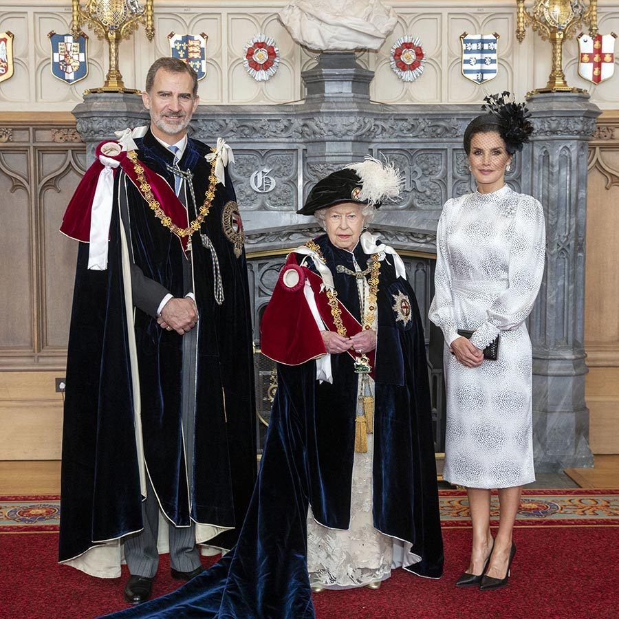 "<strong><a href=""/tags/0/king-felipe"">King Felipe VI</a></strong> of Spain was also made a Supernumerary Knight of the Garter. He and <strong><a href=""/tags/0/queen-letizia"">Queen Letizia</a></strong> also had lunch with Her Majesty at Windsor Castle.
