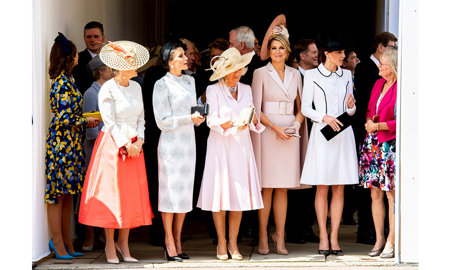 "The fashionable five! The <a href=""/tags/0/sophie-wessex""><strong>Countess of Wessex</strong></a>, <a href="" <a href=""/tags/0/queen-letizia""><strong>Queen Letizia of Spain</strong></a>, the  <a href=""/tags/0/duchess-of-cornwall""><strong>Duchess of Cornwall</strong></a>,  <a href=""/tags/0/queen-maxima""><strong>Queen Máxima of the Netherlands</strong></a> and the  <a href=""/tags/0/kate-middleton""><strong>Duchess of Cambridge</strong></a> joined forces on June 17 for the Order of the Garter service.