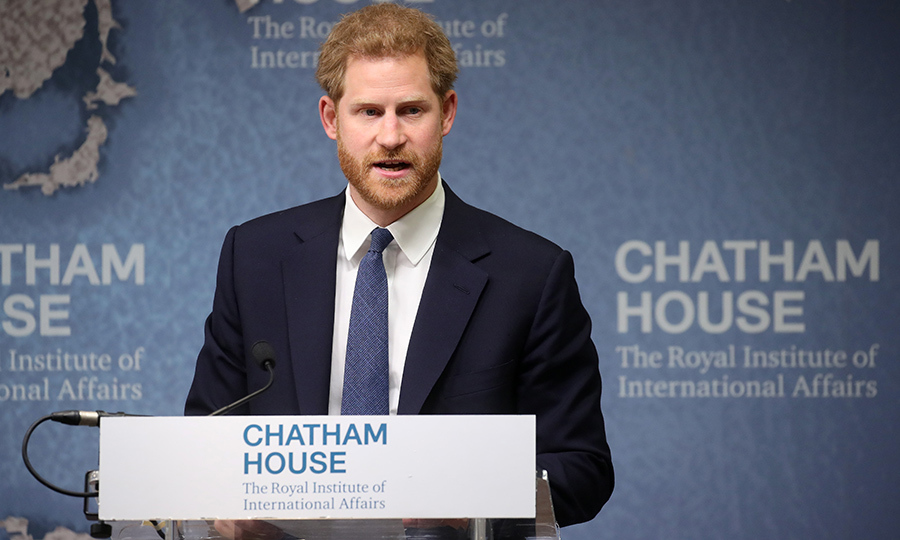 On June 17, Prince Harry made a speech at the Chatham House Africa Program event on <em>Mine, Clearance, Conservation and Economic Development in Angola</em>. He and his wife, Duchess Meghan, will visit Angola this fall on royal tour.