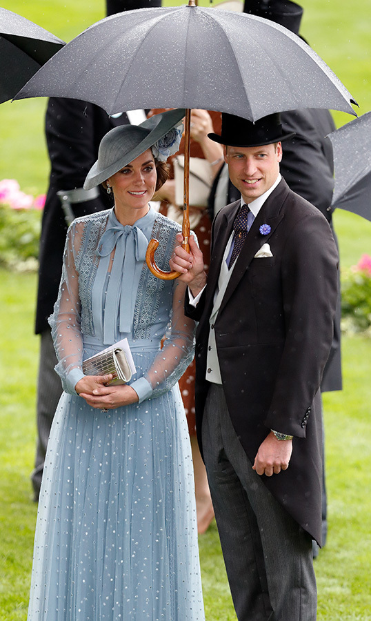 "At this year's <strong><a href=""/tags/0/royal-ascot"">Royal Ascot</a></strong>, <a href=""/tags/0/kate-middleton""><strong>Duchess Kate</a></strong> and <strong><a href=""/tags/0/prince-william"">Prince William</a></strong> shared an umbrella.