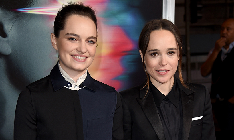 <h2>Ellen Page and Emma Portner</h2>