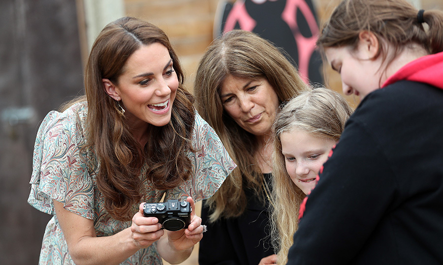 "Kate knows the importance of allowing kids to be creative. We wonder if she'll be teaching <strong><a href=""/tags/0/prince-george"">George</a></strong>, <strong><a href=""/tags/0/princess-charlotte"">Charlotte</a></strong> and <strong><a href=""/tags/0/prince-louis"">Louis</a></strong> the fun of photography, too?