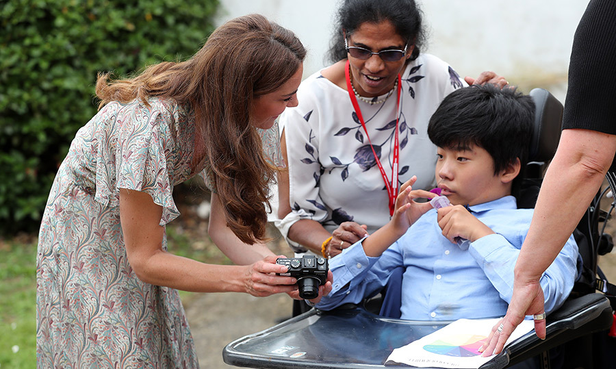 Kate showed her camera to one young boy taking part in the workshop.