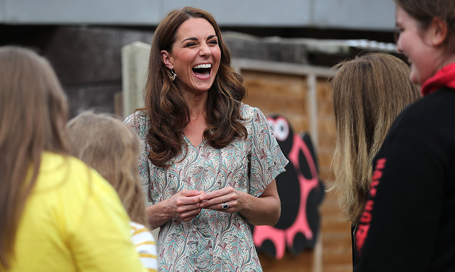 Clearly the duchess was having a good time!