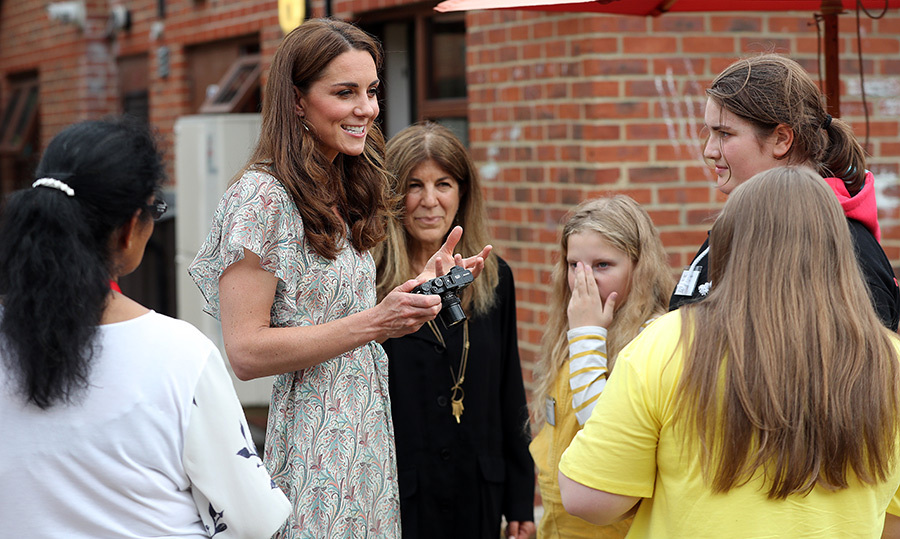 Wielding a camera, the Duchess of Cambridge worked alongside photographer <strong>Jillian Edelstein</strong> for the photography workshop.