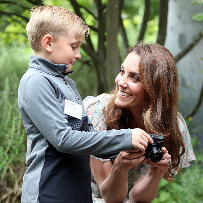 Nice work, Josh! The duchess looked over a few photos the boy snapped that afternoon.