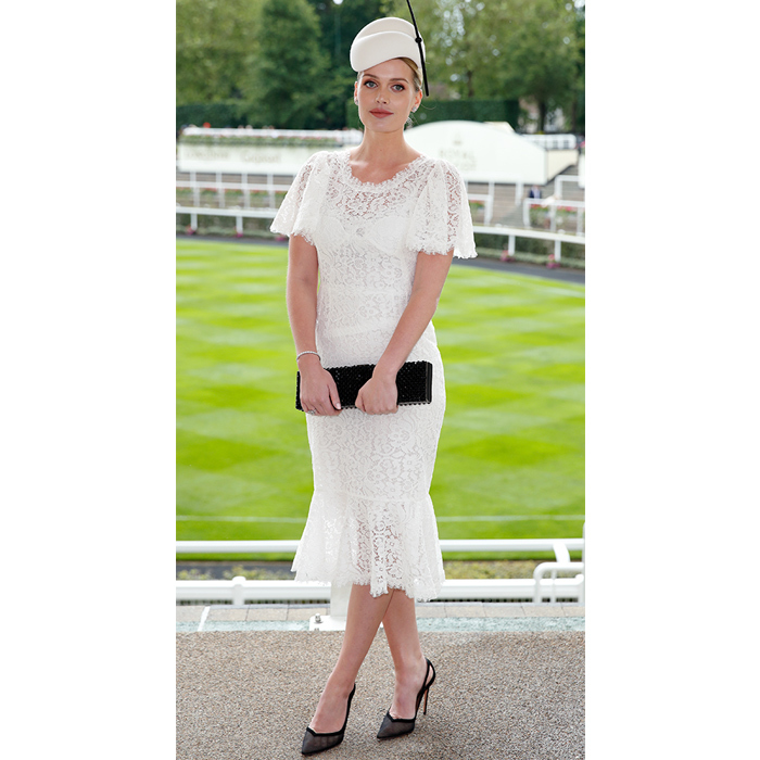 The Royal Ascot provided royal watchers with plenty of fashion inspiration. On day one, Lady Kitty Spencer wore a sweet white lace number, paired with black accessories and an elegant white hat.