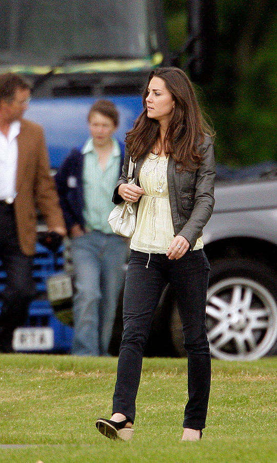 "In 2009, two years before Kate became the Duchess of Cambridge, Kate wore her pair of Pied a Terre ""Imperia"" wedges for a charity polo match at Cirencester Park Polo Club.