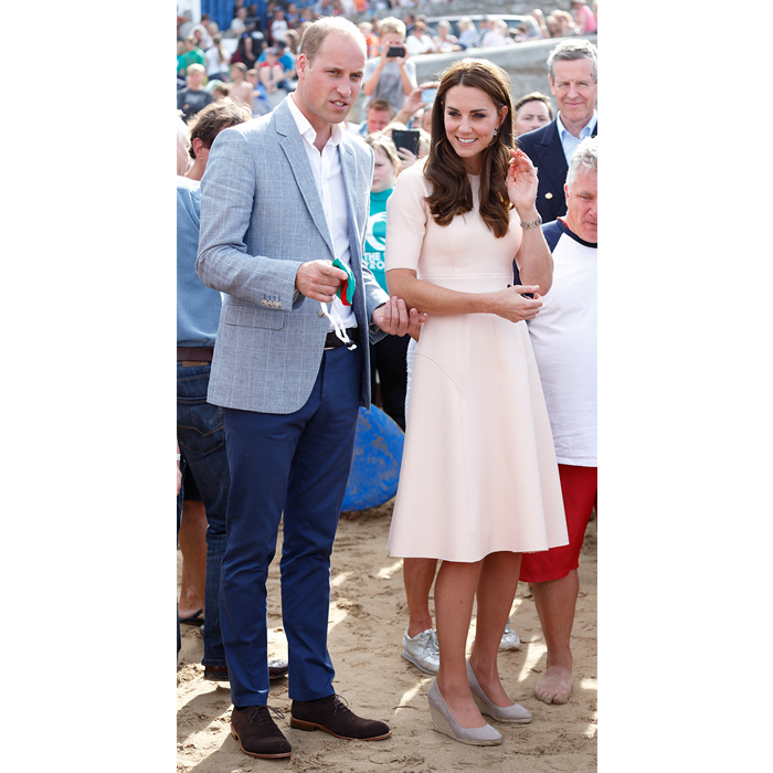 Kate's Monsoon Fleur wedges were perfect for a day at Towan Beach in Newquay, England in September 2016.
