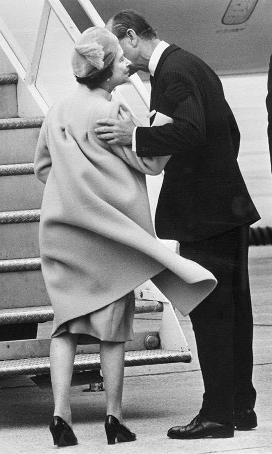 Over the years, the royal pair have strolled in the gardens of Ottawa's Rideau Hall and shared plenty of romantic runway kisses as they said their goodbyes to the Great White North (pictured, in 1982). 