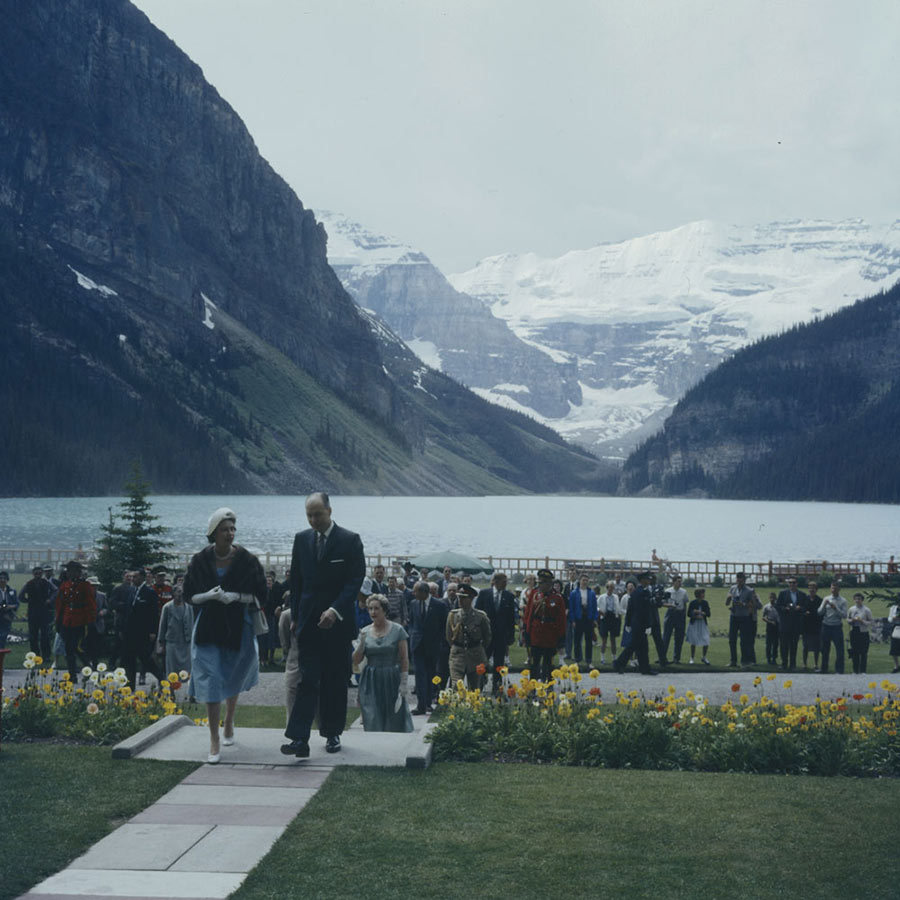 Lake Louise has been featured on many a postcard for decades, and Philip and the Queen got the chance to visit and take in its majestic views of the Rocky Mountains when they were in Canada in 1959. 