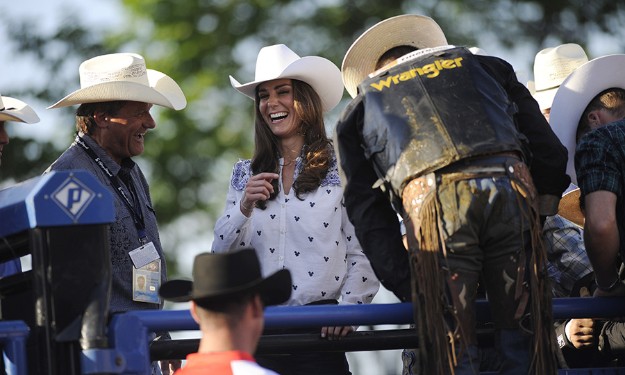 Kate looked like she was having a total blast while she watched a rodeo demonstration at the Calgary Stampede in July 2011, just a few months after her wedding to Prince William!