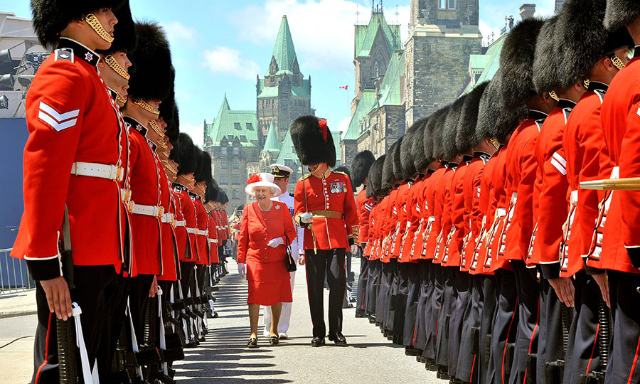 We stand on guard for thee, Canada, and on Parliament Hill, our guards do the same for the Queen!