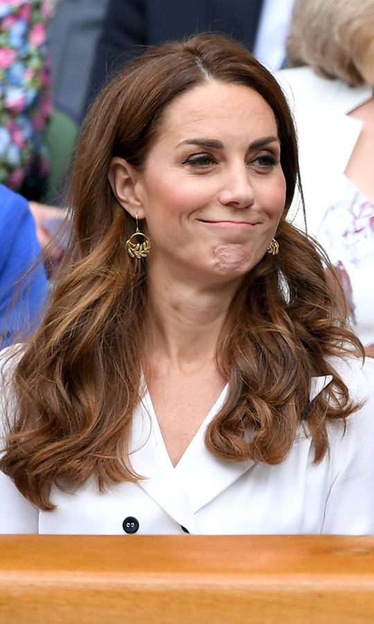 Kate, 37, was quite emotive while watching the match!